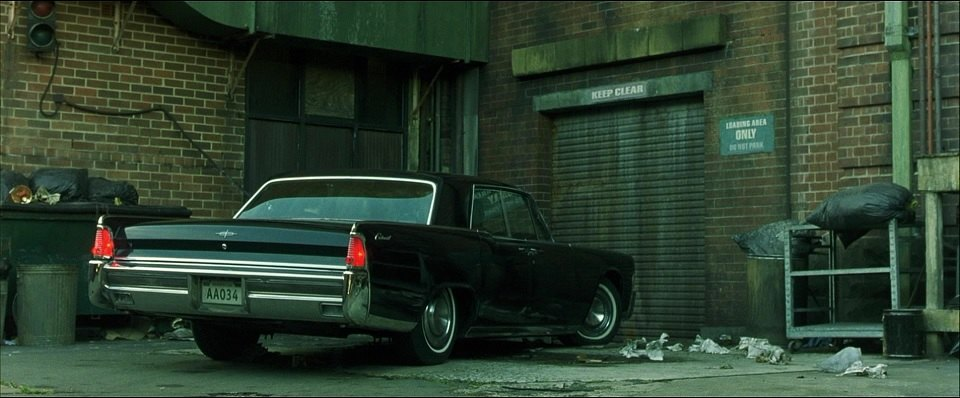 1965 lincoln continental in the matrix 1999. Black Bedroom Furniture Sets. Home Design Ideas