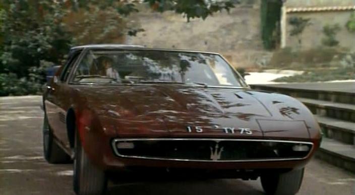 "Used Maserati Ghibli >> IMCDb.org: 1968 Maserati Ghibli [Tipo 115] in ""La piscine, 1969"""