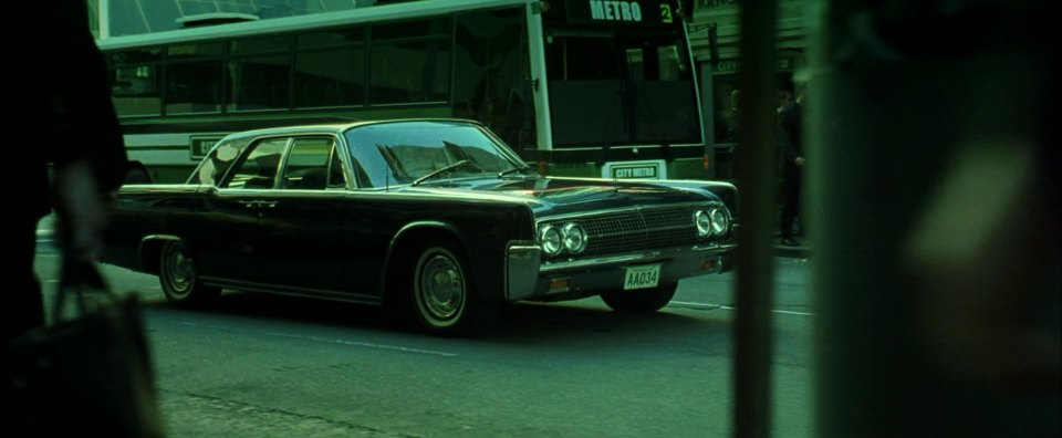 1963 lincoln continental in the matrix. Black Bedroom Furniture Sets. Home Design Ideas