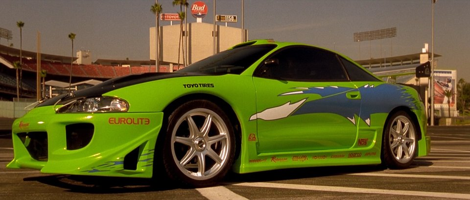 """IMCDb.org: 1995 Mitsubishi Eclipse RS 2G [D31A] in """"The Fast and the Furious, 2001"""""""