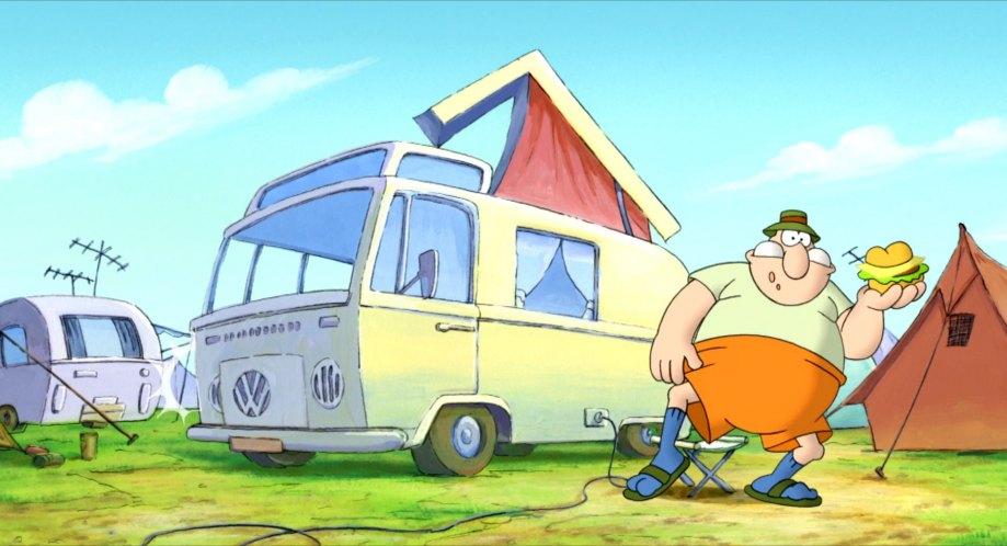 """IMCDb.org: 1968 Volkswagen Campingwagen [Typ 2 / T2] in """"Werner - Gekotzt wird später!, 2003"""""""