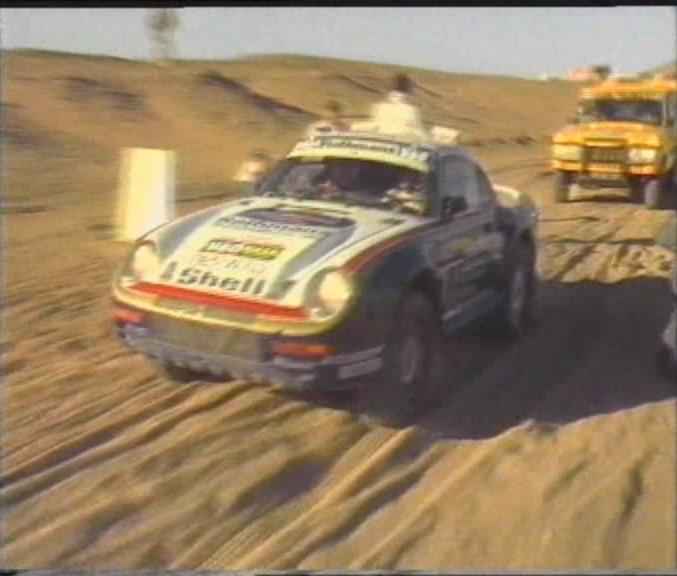 Porsche 959 Dakar. Racefrom porsche an event i