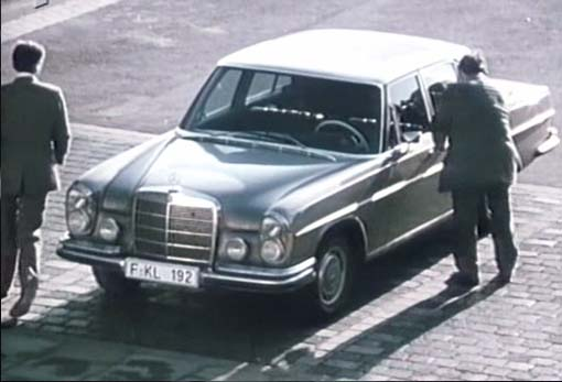 1969 mercedes benz 280 s w108 in tatort taxi nach leipzig 1970. Black Bedroom Furniture Sets. Home Design Ideas