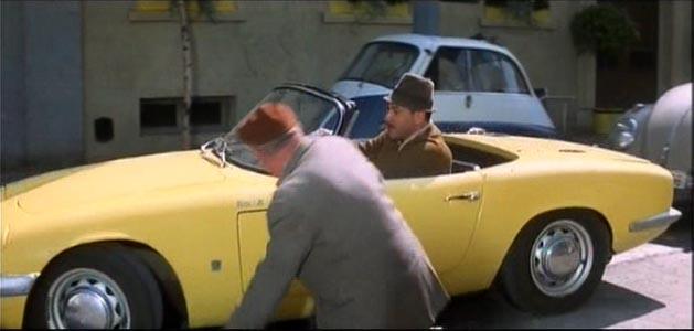 IMCDborg 1965 Lotus Elan S2 DHC Type 26 in Inspector Clouseau