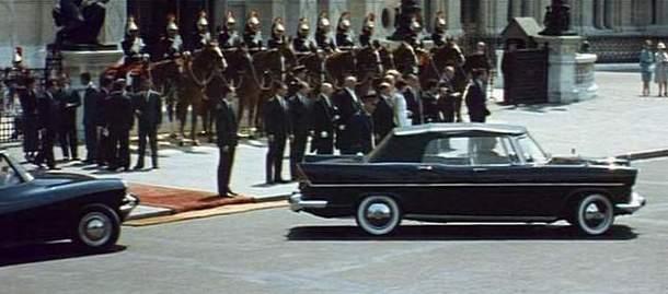 1960 simca vedette pr sidentielle d capotable for Ministre interieur 1960