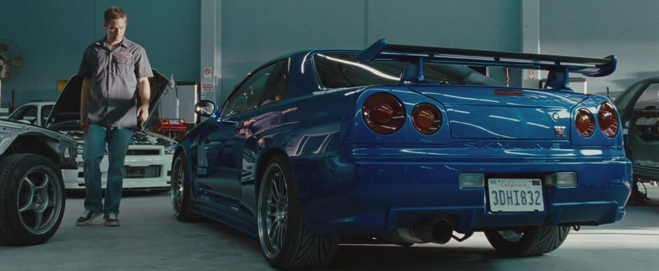 2002 nissan skyline gt r r34 in fast furious 2009. Black Bedroom Furniture Sets. Home Design Ideas