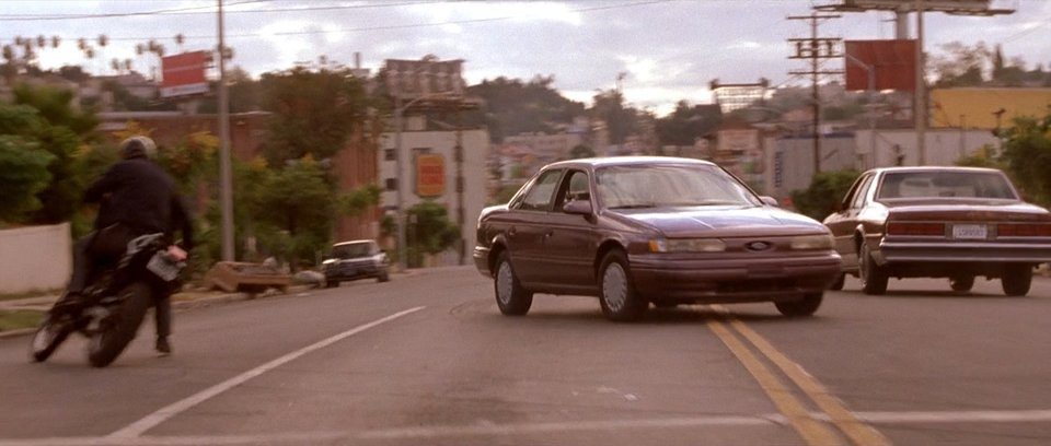 "Advertising On Cars >> IMCDb.org: 1993 Ford Taurus GL in ""The Fast and the Furious, 2001"""