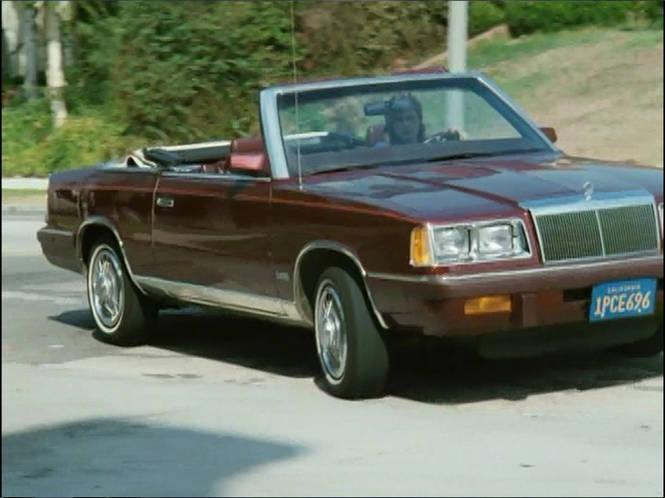 1986 Chrysler Lebaron Convertible Turbo