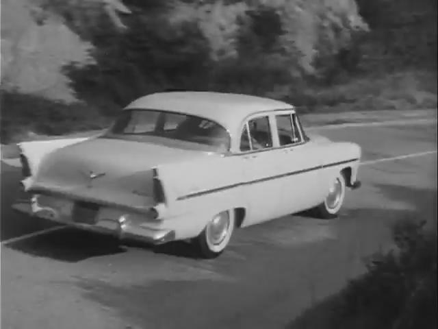 1956 plymouth savoy four door sedan in highway for 1956 plymouth savoy 4 door