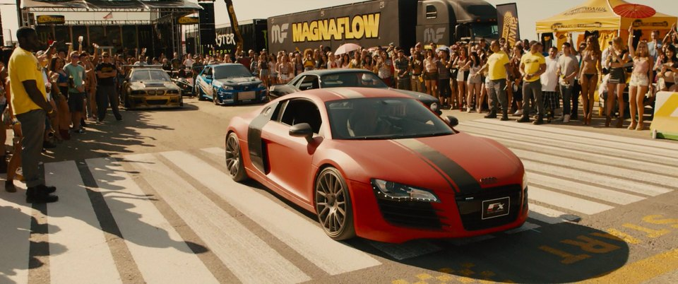 2008 audi r8 4 2 fsi quattro typ 42 in furious 7 2015. Black Bedroom Furniture Sets. Home Design Ideas