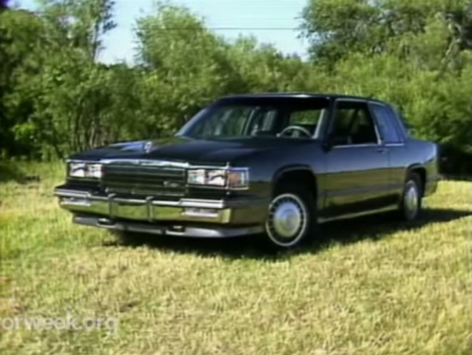 imcdb org 1986 cadillac coupe deville touring coupe in motorweek 1981 2020 imcdb org