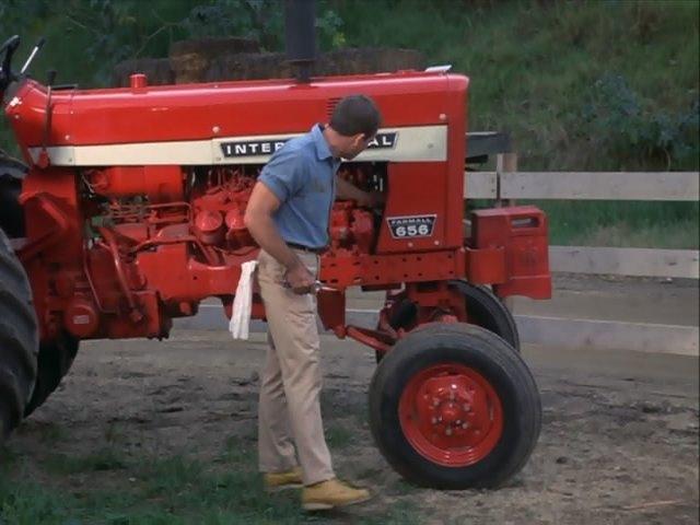 Red Brand New Farmall Tractors : Brand new ih on the set of mayberryrfd coffee shop