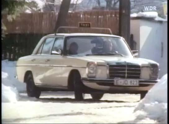 1974 mercedes benz 200 d taxi w115 in tatort. Black Bedroom Furniture Sets. Home Design Ideas