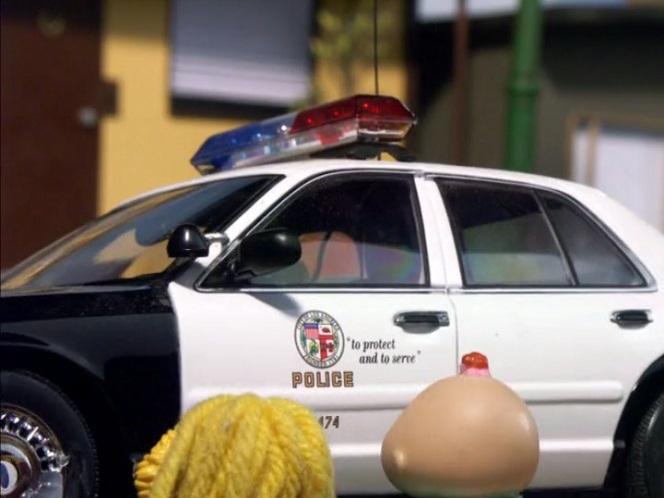 "IMCDb.org: 1998 Ford Crown Victoria 1:18 AutoArt LAPD model [P71] in ""Robot Chicken, 2005-2019"""